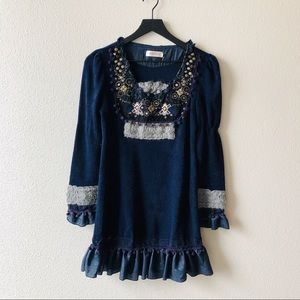 Simply Couture Navy Long Sleeve Dress Sz Small